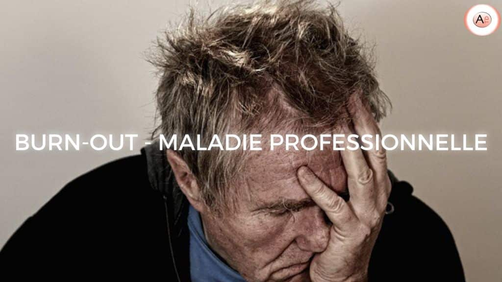 BURN-OUT MALADIE PROFESSIONNELLE ILLUSTRATION