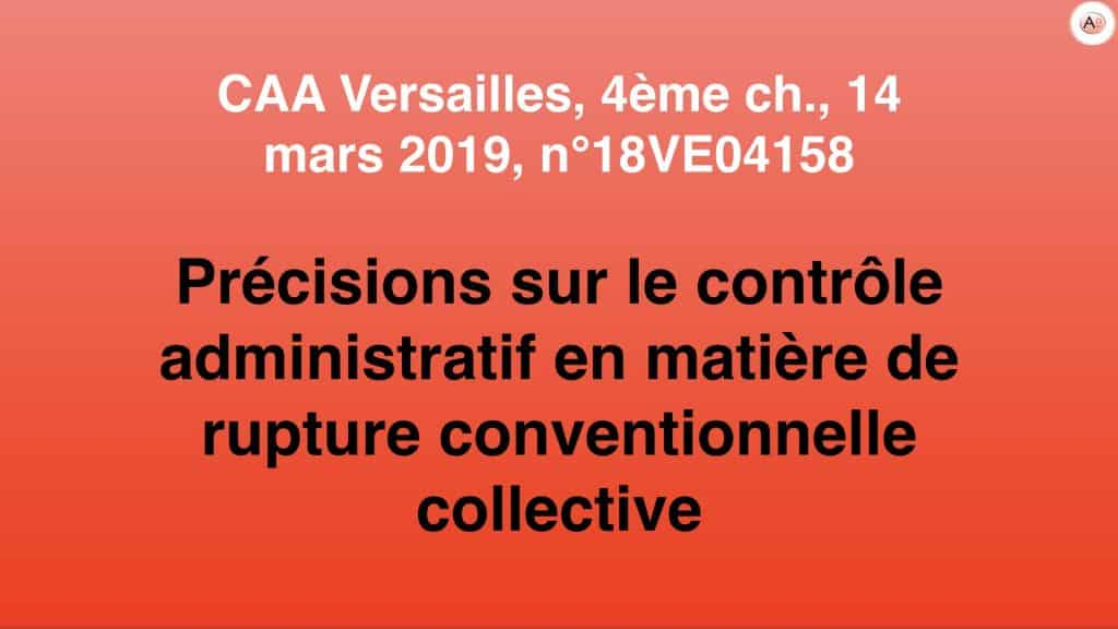 Précisions sur le contrôle administratif en matière de rupture conventionnelle collective - Clara LEFEVBRE